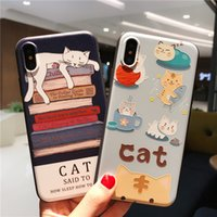 Funny 3D Cartoon Kitty Cat Phone Cases Silicone Squeeze Stre...