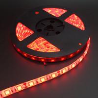 БЕСПЛАТНАЯ ДОСТАВКА! 5M / серия 5050 60 Светодиодные полосы света Waterprooof 5050 Светодиодная лента одного цвета RGB 5050 300 Светодиодные полосы света