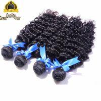 Vendita di liquidazione !!! A buon mercato all'ingrosso 8A peruviana brasiliana indiani capelli malesi estensione profonda onda 8-30 pollici trama dei capelli umani con il regalo ciglia