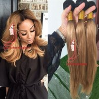 New arrival dark root color 1b 27# honey blonde ombre straig...