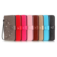 Stick Flower Wallet PU lederen tas voor iphone 5,67,7 plus case creditcard met standaard pouch voor iPhone 7