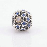 Stardust Boncuk Gümüş Yıldız Takı Orijinal Stil Bilezikler için Uyar S925 Ayar Gümüş Avrupa
