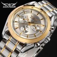 Heißer Verkauf Jaragar Uhren Männer Automtic Mechanical Watch Edelstahl Herren Business Armbanduhren Relogio Releges Großhandel + box