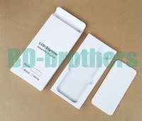 Wihte Paper Box + EVA Filler Case per iPhone 4 5 6 4.7 5.5 e Samsung Phone LCD Screen Digitizer Pacchetto protettivo Set completo 500 set / lotto