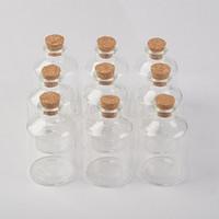 45ml Transparency Glassflaska med korkar för bröllopsresor Dekoration Julburkar God flaska Corks Cap 12pcs