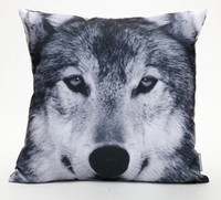 Federa decorativa Federa lupo Cuscino stampato Winter Forest Wolf 18