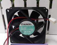 SUNON 80*80*25 KD1208PTS1-6 DC12V 2.6W 8CM 2 Line Silent cooling fan