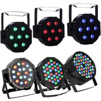 18LED Par Lights para Stage Lighting con efecto mágico RGB por control DMX512 DJ Club Wedding Disco para fiesta familiar
