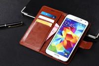 För Samsung S5 Case Cover Luxury Original Cute Hard Flip Phone Plånbok Läderfodral för Samsung Galaxy S5 i9600