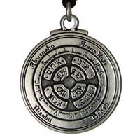 Nuevo punk amuleto colgante talismán para honor y riqueza pentáculo colgante hermético enochian kabbalah pagan wiccan joyería