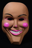 New Cosplay The Purge Smiling Face Pink Lip Mask Festival Pa...