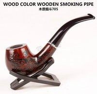 Fashion Gift Wood Color Smoking Pipes 14. 5cm Metal & Acrylic...