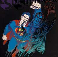 Andy Warhol Superman High Quality Pure Hand Painted Portrait...