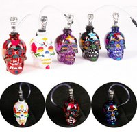 Colored Skull Pipes Glass Hookahs Bong Zinc Alloy&Glass With...