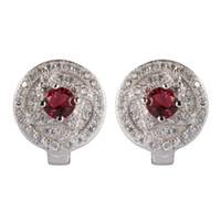 Kupfer Rhodium überzogene Mode Ohrringe Förderung Red Zirkonia MN3102 Edle Großzügige Schatzmeister empfohlen Schöne Explosion Modelle