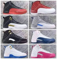 12 XII Gym Red Wolf Grey Wings Flu Gioco Master Blu Blu University Blu Bianco Rosa Uomo Donna Scarpe da basket 12s Sneakers