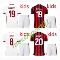 high quality 2017 2018 AC MILAN soccer jerseys Kids kit 17 1...