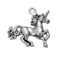 Double Sided Antique Silver Plated Top Quality Alloy Unicorn...