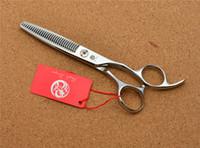"""522 # 6.0 '' Marque Ciseaux de Coiffure Professionnels Dragon Dragon JP 440C Ciseaux Amincissants de Forme """"W"""" Ciseaux Cheveux"""
