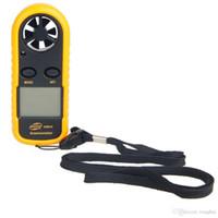 Mini LCD Rüzgar Hızı Ölçer Hava Hızı Ölçer Dijital Anemometre NTC Termometre Ambalaj ile