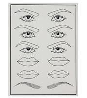 10 pcs Cosméticos Treinamento Falso Pele Pele Prática de Tatuagem para Permament Maquiagem Sobrancelha Couro Macio Artificial 20x15 cm