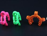 14 milímetros 19 mm de tamanho joint Plastic Keck Grampo Plástico Cor Keck Laboratory Lab braçadeira para o adaptador de vidro Bong Vidro