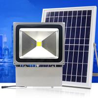 Lampade di inondazione solari all'aperto del LED 100W 70W 70-85LM Lampade Impermeabile IP65 Illuminazione del pannello di batteria del proiettore di illuminazione diretta da Shenzhen Cina