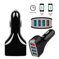 Carregador Rápido 3.0 Car Charger Adapter carregamento rápido carregadores de carro 4 USB Car Charger Mobile Phone para o telefone inteligente