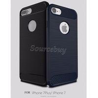 Yeni Sağlam Zırh Vaka Yumuşak TPU Karbon Fiber Darbeye Kabuk iPhone 7 6 artı 5 Samsung S7 S7 Kenar J7 HUAWEI P9