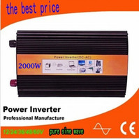 sinus omvormer 2000w inverter sinusoidale pura potenza massima 4000w DC 12V 24V 48V 110V a AC100V-240V per vento solare uso domestico