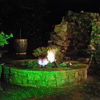 IP44 al aire libre a prueba de agua rojo verde Elf Firefly jardín láser christas árbol proyector vacaciones luz 110v iluminación del paisaje