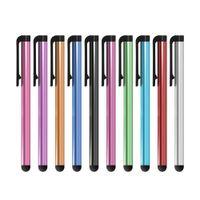 Universeller kapazitiver Schreibkopf-Stift für Iphone7 / plus 6 / S 5 5S Noten-Stift für Handy für verschiedene Farben des Tablette-500Pcs / Lot DHL geben Verschiffen frei