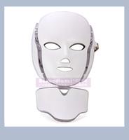 2017 최신 LED 마스크 피부 젊 어 짐 방지 microcurrent와 함께 7 광자 색상 안티 에이징 얼굴 마스크 홈 사용 DHL 무료 배송