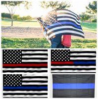 90 * 150 см BlueLine США полиция флаги 5 стилей 3x5 ноги Тонкая синяя линия флаг США черный белый и синий американский флаг с латунными втулками 10 шт.