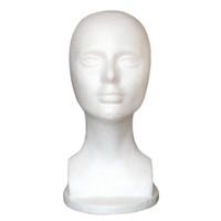 Envío gratis Mannequin Head Hat Display Peluca modelo de cabeza de entrenamiento modelo de la cabeza de la exhibición modelo de la peluca de las mujeres