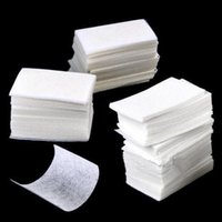 Vente en gros - 400pcs / set Nail Art essuyer Manicure Gel Gel ongles Wipes Coton Haute Qualité Lint Coton Pads Paper Acrylique Gel Tips