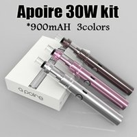 Apoire Apollo Kit complet 30W Huge Vapor E Cigarette 900mah Apollo Sub batterie Avec 2.5ml Apoire Réservoir Vs Mega Subvod Topbox