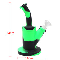 Mini Silicone bong glass percolator with 14. 4mm joint bowl b...