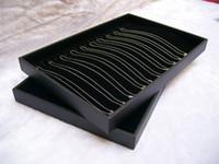 Бесплатная доставка, 3 шт./лот серебряные ювелирные изделия дисплей кейс для хранения 20 шт. ожерелье держатель Черный Бархат