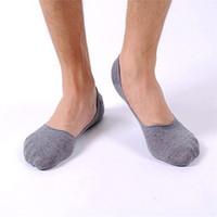 Venta al por mayor-El mejor vendedor Envío gratis Hombre de la moda Boca baja barco invisible deportes algodón Slip calcetines Jun21