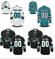 Personalized Men' s San Jose Sharks Custom Hockey Premie...