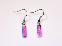 Großverkauf-Kleinart und weise Blau / Weiß / Rosa / Rot Feine Feuer-Opal-Ohrringe 925 Silber überzogene Schmucksachen für Frauen EJL16030806