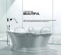 Grand débit d'eau Installation facile avec le mélangeur debout de robinet debout de baignoire de cascade de salle de bains de boîte incorporée 6203