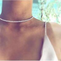 Novo Design de Luxo Gargantilha de Cristal Colar de Strass Colar de Acessórios de Jóias Colar para as mulheres