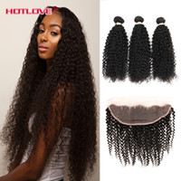 Hotlove Products Kinky Curly Peruvian Hair Weave 3 Pieces Hu...