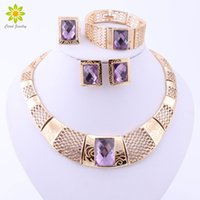 Fashion Nigerian Wedding Gold Plated African Beads Jewelry S...