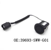 Sensores de estacionamiento 1pair PDC 39693SWWG01 Para sensor ultrasónico negro Honda CR-V de CR-V 2007-2012 sensor automático 39693-SWW-G01 del revés del coche