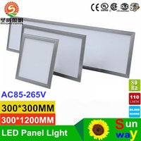 Ultrathin LED Panel Light 300 * 300 600 * 600 300 * 1200 600 * 1200mm 24W 36W 48W 54W 80W Cucina Bagno Led Plafoniere AC 110-240 V