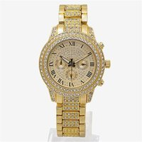 럭셔리 시계 여성 다이아몬드 시계 3 눈 여성 팔찌 숙녀 디자이너 손목 시계 3 색 도매 무료 배송
