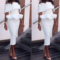Vraies Photos Bateau Cou Courte Robes De Bal Robes Sexy Gaine Simple Robes De Cocktail Fait Sur Mesure Lady Porter Robes De Retour
